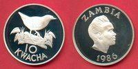10 Kwacha 1986 Sambia Spiegelralle - Vogel, Tierwelt, WWF, Endangered W... 20,00 EUR  zzgl. 5,00 EUR Versand