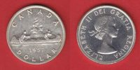 1 Dollar 1957 Kanada Elisabeth, Kanu vorzüglich-Stempelglanz  16,00 EUR  +  5,00 EUR shipping