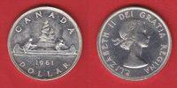 1 Dollar 1961 Kanada Elisabeth, Kanu bankfrisch, unc.  16,00 EUR  +  5,00 EUR shipping