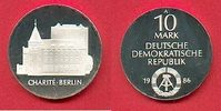 10 Mark 1986 DDR Charite Berlin Silber Polierte Platte offen, Proof PP  54,00 EUR  +  6,00 EUR shipping