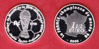 1,5 Euro 2005 Frankreich Pokal - Fußball WM 2006 Deutschland Polierte P... 19,50 EUR  zzgl. 5,00 EUR Versand