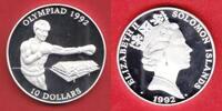 10 Dollar 1992 Salomon Inseln Olympiade 1992 Barcelona,Boxen Polierte P... 17,20 EUR  +  5,00 EUR shipping