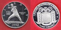 1 Dollar 1992 USA Olympic Games 1992 Seoul, Baseball Polierte Platte Pr... 17,00 EUR  +  5,00 EUR shipping