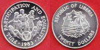 20 Dollars 1983 Liberia Behinderte in schützender Hand - UNO Jahr der B... 25,00 EUR  +  5,00 EUR shipping