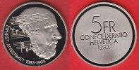5 Franken 1983 Schweiz Ernest Ansermet Polierte Platte Proof, PP  10,00 EUR  +  5,00 EUR shipping
