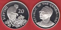 20 Dalasis 1987 Gambia Temminck-Stummelaffe, Tierwelt, WWF, Endangered ... 21,00 EUR  zzgl. 5,00 EUR Versand