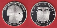 Ecuador 25000 Sucres 2006 Polierte Platte, Proof World Soccer Games 2006 24,00 EUR incl. VAT., +  5,00 EUR shipping