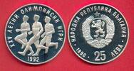 25 Lewa 1990 Bulgarien Olympiade 1992 Barcelona, Marathonläufer Poliert... 13,20 EUR  +  5,00 EUR shipping