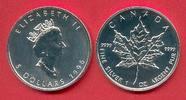5 Dollars 1996 Kanada Canadian Maple Leaf  Bullion Coin 1 Ounce pure Si... 23,00 EUR  +  5,00 EUR shipping