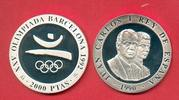 2000 Pesetas 1990 Spanien Olympiade 1992 Barcelona,  Emblem Polierte Pl... 16,20 EUR  zzgl. 5,00 EUR Versand