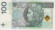 100 Zlotych  2012 (2014) Polen - Polska - Poland Umlauf-Banknote vom 5.... 38,00 EUR  excl. 10,00 EUR verzending