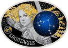 10 Denari 2014 Mazedonien - Macedonia Zodiac - Sargutta PP teilvergoldet  69,00 EUR