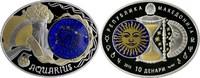 10 Denari 2015 Mazedonien - Macedonia Zodiac - Aquarius PP teilvergoldet  69,00 EUR  Excl. 10,00 EUR Verzending
