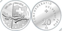 20 Franken 2016 Schweiz 150 years Swiss Red Cross unzirkuliert Stgl.  39,00 EUR