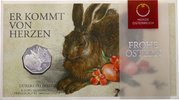 5 Euro 2016 Österreich - Austria Dürer Hase im Folder Stempelglanz  20,00 EUR  +  10,00 EUR shipping