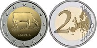 2 Euro 2016 Lettland - Latvija - Latvia Brown Cow - Agriculture product... 3,00 EUR  +  10,00 EUR shipping