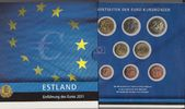 3,88 Euro 2011 Estland - Estonia - Eesti coin set with all coins 1 cent... 7,90 EUR  +  10,00 EUR shipping