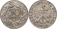 50 Groszy Eisen vernickelt 1938 Polen - Poland - Polska Currency Coin -... 18,00 EUR  +  10,00 EUR shipping