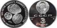 3 Rubel Silber PP 1989 Russland UdSSR 300 Jahre russ. Staat Münzen Deng... 29,00 EUR