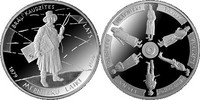 1 Lats 2009 Lettland Latvija Latvia Die Zeit der Landvermesser proof PP  49,00 EUR  +  10,00 EUR shipping