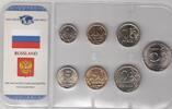 8,66 Rubel ab 1998 Russland Kursmünzensatz priv. Herkunft bis 5 Rubel u... 5,00 EUR  +  10,00 EUR shipping