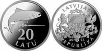 Lettland - Latvija - Latvia 20 Latu Silver Salmon - 20 years Lats-currency in Latvia