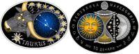 10 Denari 2015 Mazedonien - Macedonia Zodiac - Taurus PP teilvergoldet  69,00 EUR  +  10,00 EUR shipping