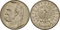 5 Zloty 1934 Polen - Poland - Polska Currency Coin Pilsudski vorzüglich!  12,00 EUR
