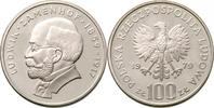 100 Zloty 1979 Polen - Polska - Poland Zamenhof Ludwik Polierte Platte  12,00 EUR
