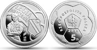 5 Zlotych 2016 Polen - Polska - Poland New Face Value Polish Fotball Cl... 32,00 EUR  excl. 10,00 EUR verzending