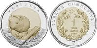 1 Lira 2016 Türkei - Turkey Siebenschläfer unc Unzirkuliert  5,00 EUR  +  10,00 EUR shipping