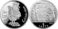 1 Lats 2010 Lettland Latvia Latvija The Latvian ABC Book Silver Proof PP  42,00 EUR  Excl. 10,00 EUR Verzending
