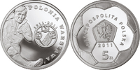 5 Zlotych 2011 Polen - Polska - Poland New Face Value Polish Fotball Cl... 8,00 EUR  +  10,00 EUR shipping