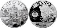 20 Rubel 2011 Belarus Hansa Towns Polatzk Polierte Platte PP  69,00 EUR