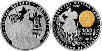 100 Tenge mit Certificate 2012 Kasachstan Leaders of the World -  Sulta... 69,00 EUR  Excl. 10,00 EUR Verzending