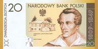 20 Zlotych 2009 Polen Polska Juliusz Slowacki 2009 Gedenkbanknote kasse... 29,00 EUR