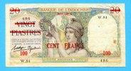 100 Francs, (1939) Neu Kaledonien,  III,  585,00 EUR  +  17,00 EUR shipping