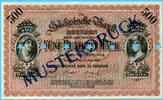 500 Mark, 1890, Deutschland/Sachsen, Länderbanken-Sächsische Bank-Muste... 295,00 EUR  +  7,00 EUR shipping