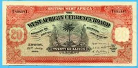 20 Schillings, 1930 Brittisch West-Afrika,  II  650,00 EUR  +  17,00 EUR shipping