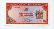 2 Dollars, 1972, Rhodesien,  Unc,  75,00 EUR  +  7,00 EUR shipping