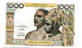 1000 Francs, (1980), Westafrikanische Staaten, Elfenbeinküste, I,  66,00 EUR  +  7,00 EUR shipping