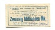 20 Milliarden Mark, 25.10.1923, Northeim,  III,  125,00 EUR112,50 EUR