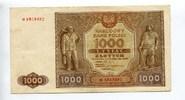 1000 Zlotych, 1946, Polen,  III,  60,00 EUR  +  7,00 EUR shipping