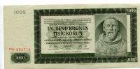 1000 Kronen, 1942, Deutschland, Böhmen u.Mähren, II,  70,00 EUR  +  7,00 EUR shipping