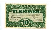 10 Kroner, 1945, Dänemark,  III,  85,00 EUR  +  7,00 EUR shipping