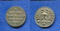 Br.-Medaille, 1867, Frankfurt, Aus dem Dombrand, ss/vz,  110,00 EUR  +  7,00 EUR shipping
