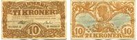 10 Kroner/Kronen, 1922, Dänemark,  III-,  145,00 EUR130,00 EUR  +  7,00 EUR shipping