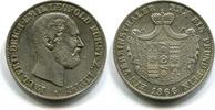 Vereinstaler, 1866, Lippe, Paul Friedrich Emil Leopold 1851-1875, vz,  210,00 EUR  +  7,00 EUR shipping