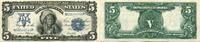 5 Dollar, 1899, USA, Silver Certificate, II,  1700,00 EUR  +  17,00 EUR shipping