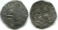 8 Reales o.J. Bolivien, Philip II.1555-1598, ss  775,00 EUR  plus 17,00 EUR verzending